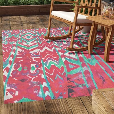 Florus Hand Woven Melon Indoor/Outdoor Area Rug Rug Size: Rectangle 56 x 86