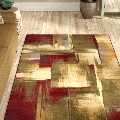 Jaidan Brown/Beige Area Rug Rug Size: Rectangle 8 x 10
