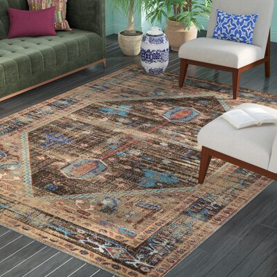 Shelie Heriz Brown Area Rug Rug Size: Rectangle 8 x 106