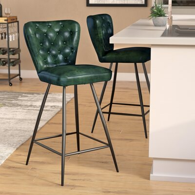 Byrd 25.98 Bar Stool Finish: Green