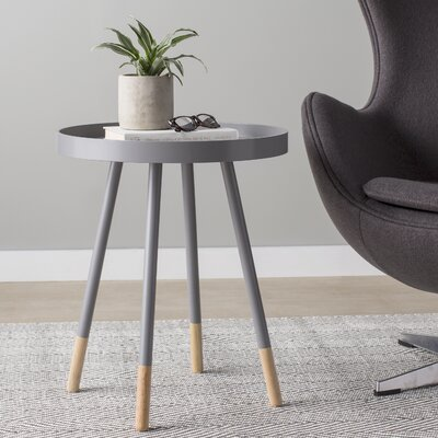 Fortney Tray Table Color: Frost Grey