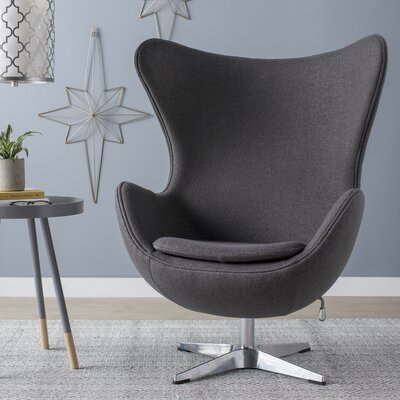 Swivel Balloon Chair Upholstery: Gray