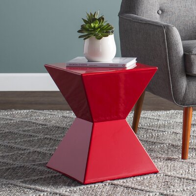 Rocco Urban Unity End Table Color: Red