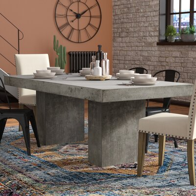 Amhold Dining Table Color: Gray