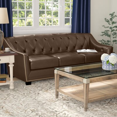 Tux Leather Sofa Upholstery: Java Brown