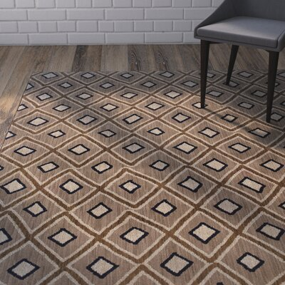 Hallock Brown Area Rug Rug Size: Rectangle 53 x 76