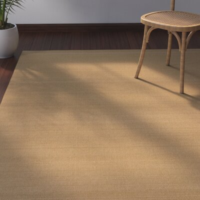 Goldenrod Beige Indoor/Outdoor Area Rug Rug Size: Round 710