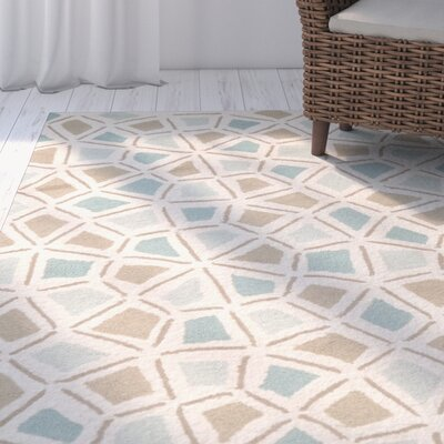 Spring Wheel Blue/Brown Area Rug Rug Size: Rectangle 96 x 136