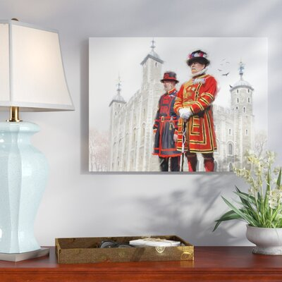 'Beefeaters' Print on Wrapped Canvas Size: 14