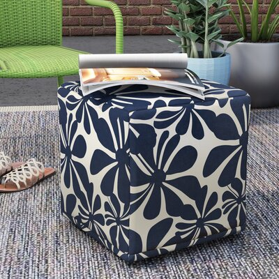Monterey Cube Ottoman Color: Navy Blue