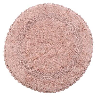 Natale 100% Soft Cotton Reversible Bath Rug Color: Coral