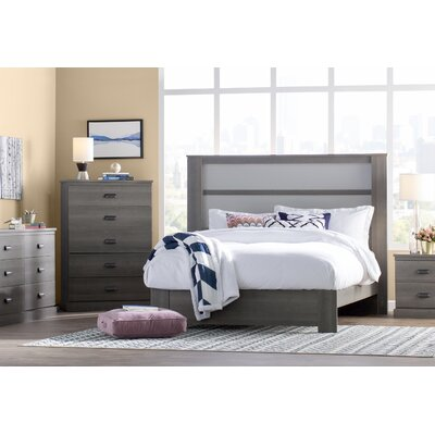 Abram King Panel Headboard Finish: Gray Maple