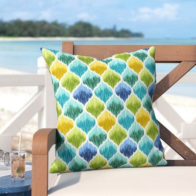 Bradenville Tide Pool Caribbean Outdoor Throw Pillow Size: 26 H x 26 W x 6 D, Color: Blue/Green/Yellow