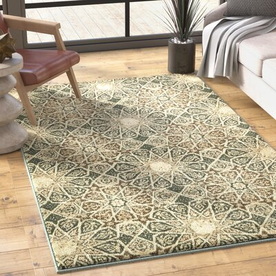 Kentville Rectangle Beige Area Rug Rug Size: Round 8