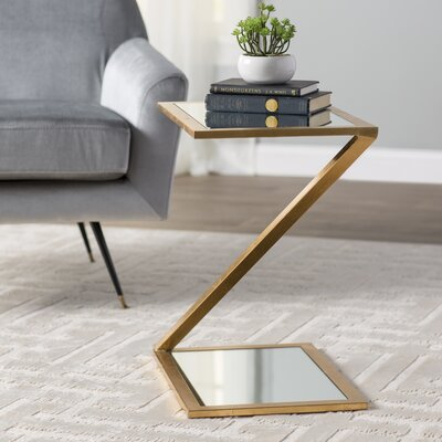Mornington End Table Color: Gold