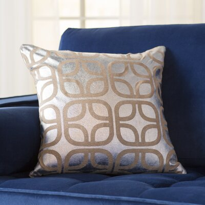 Astoria Linen Throw Pillow Size: 18 H x 18 W, Color: Silver
