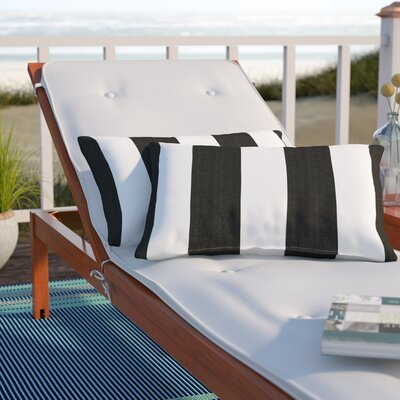 Stonebridge Indoor/Outdoor Sunbrella Lumbar Pillow Color: Black/White