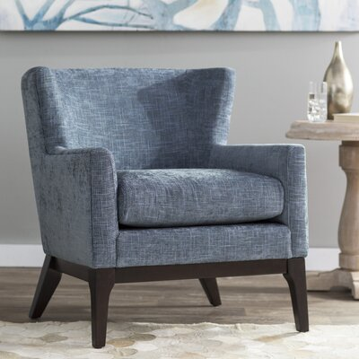 Donohue Wingback Chair Upholstery: Blue