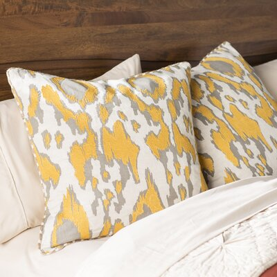 Waho Throw Pillow Color: Yellow