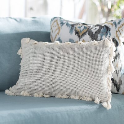 Charleena Moroccan Tassel Cotton Lumbar Pillow