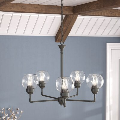 Killdeer 5-Light Shaded Chandelier Finish: Olde Bronze