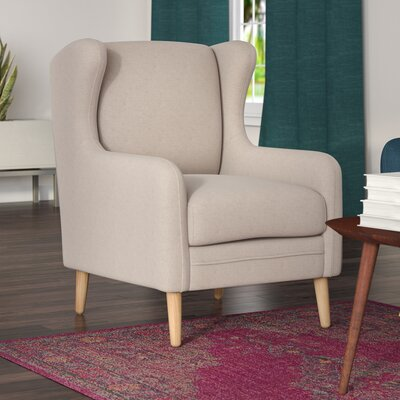 Cooper Wingback Chair Upholstery: Cream