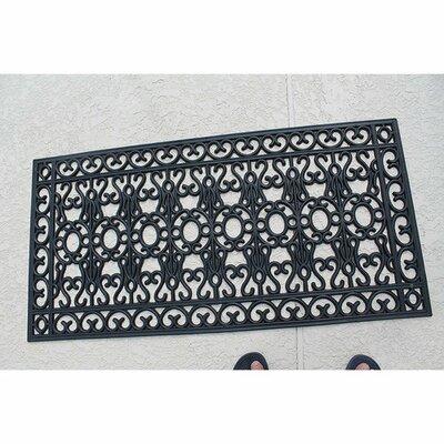 Albertina Scrollwork 100% Rubber Beautifully Hand Finished Elegant Doormat