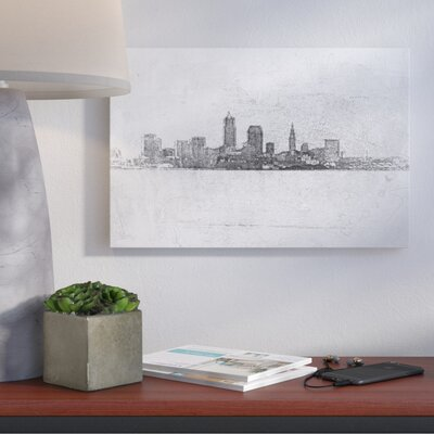 Cleveland Pointillism Painting Print on Wrapped Canvas Size: 12