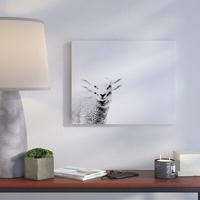 'Lamb' Graphic Art Print on Canvas Size: 16