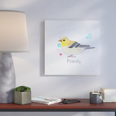'Peace' Graphic Art Print on Wrapped Canvas Size: 14