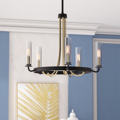 Desaree 5-Light Shaded Candle-Style Chandelier