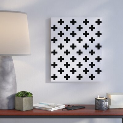 'Plus Pattern' Graphic Art Print on Canvas Size: 10