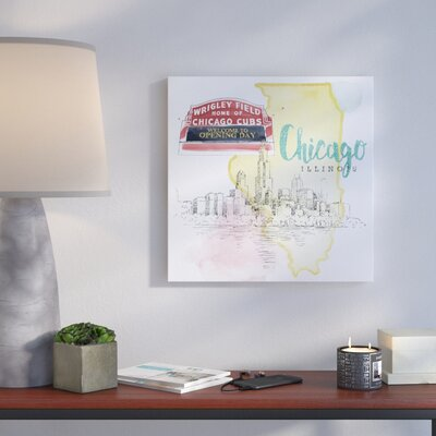 'US Cities II' Vintage Advertisement on Wrapped Canvas Size: 10