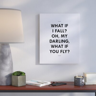 'What If' Textual Art on Canvas Size: 10
