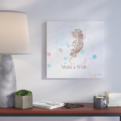 'Make a Wish' Graphic Art Print on Wrapped Canvas Size: 14