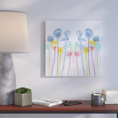 'Wildflowers' Print on Wrapped Canvas Size: 14