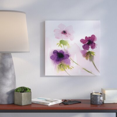 'Purple Trio' Print on Wrapped Canvas Format: Wrapped Canvas, Size: 10
