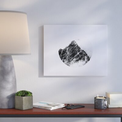 'Mountain' Photographic Print on Canvas in Black and White Size: 16