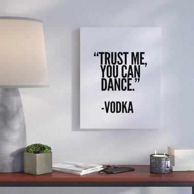 'Vodka' Textual Art on Canvas Size: 10
