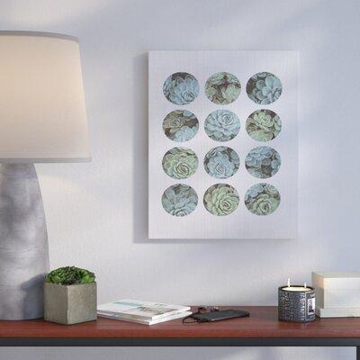 'Succulent Circles' Graphic Art Print Format: Canvas, Size: 20