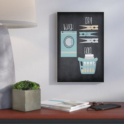 'Wash Dry Fold Illustration' Graphic Art Print Format: Plaque, Size: 15