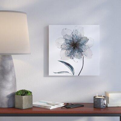 'Indigo Bloom II' Graphic Art Print on Canvas Size: 10