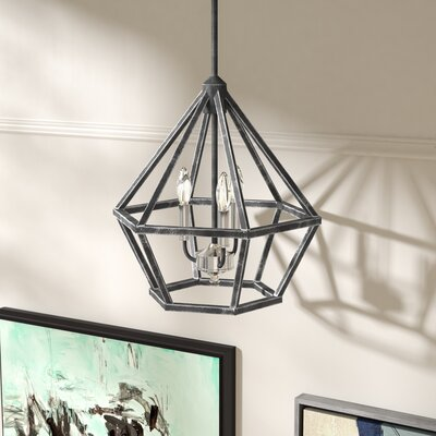 Basil 3-Light Foyer Pendant Finish: Iron Black/Brushed Nickel