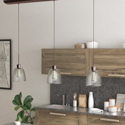 Arinze 3-Light Oil Brushed Bronze Kitchen Island Pendant