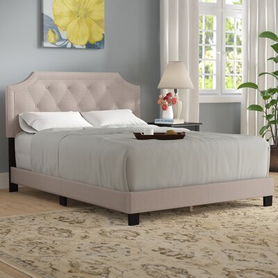Buchanan Upholstered Panel Bed Size: King, Color: Beige