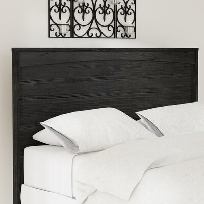Poulson Panel Headboard Size: Twin, Color: Black
