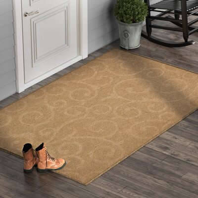 Kendari Brown Outdoor Area Rug Rug Size: Rectangle 9 x 12