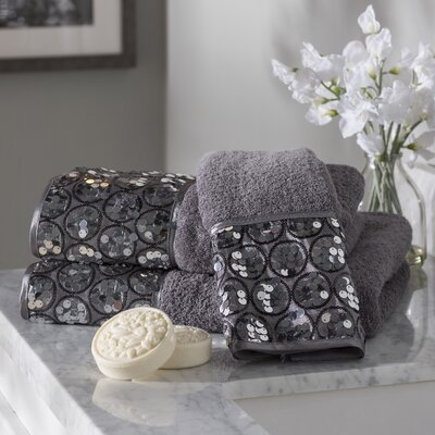 Rivet 3 Piece Towel Set Color: Silver