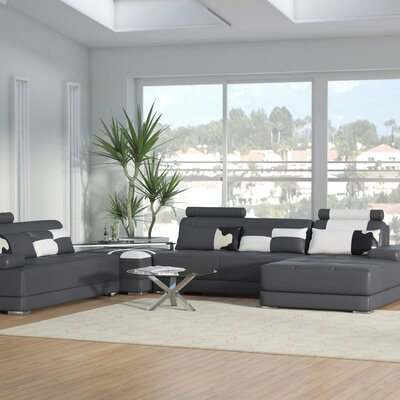 Cordlandt Reversible Sectional Upholstery: Gray