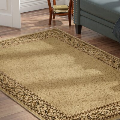 Marvin Khaki/Burnt Orange Area Rug Rug Size: Rectangle 93 x 126